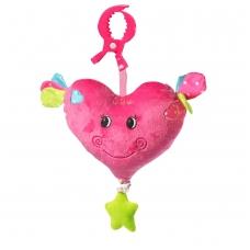 Minkštas žaislas BabyOno su melodija - širdelė