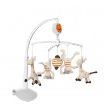 Muzikinė karuselė žirafa ir beždžionės