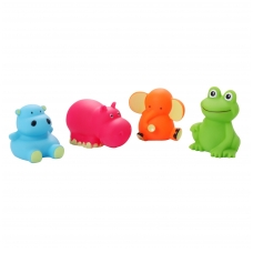 Vonios žaislai mažieji gyvūnėliai 4 vnt.