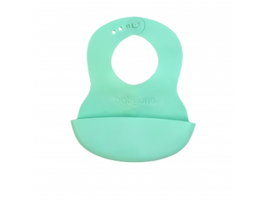 Soft baby bib with adjustable lock