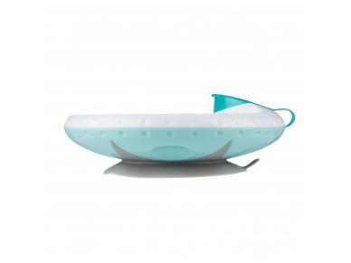 Food temperature maintaining suction bowl