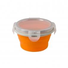 BabyOno magiškas silikoninis dubinėlis maisteliui, 220 ml, 1322 (oranžinis)