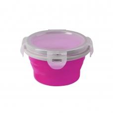 BabyOno magiškas silikoninis dubinėlis maisteliui, 220 ml, 1322 (rožinis)
