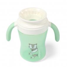 BabyOno neišsiliejantis puodelis  360°, 240 ml, 1449/01, mėtinė