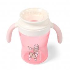 BabyOno neišsiliejantis puodelis  360°, 240 ml, 1449/01, rožinė