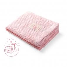 Babyono pledas megztas, bambukinis, rožinis, 479/01