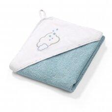 BabyOno rankšluostis su gobtuvu frotinis 100x100, mėlynas TERRY, 142/09