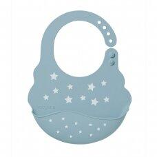 BabyOno seilinukas silikoninis, mėlynas, žvaigždės, 829/05