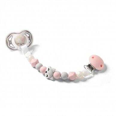 BabyOno čiulptuko laikiklis, rožinis, lapė 719/04 2