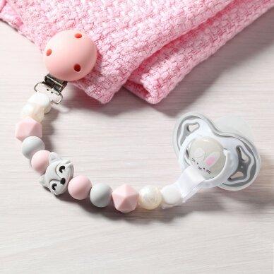 BabyOno čiulptuko laikiklis, rožinis, lapė 719/04 3
