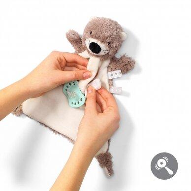 BabyOno minkštas žaislas - migdukas su čiulptuko laikikliu, OTTER MAGIE, 739 2