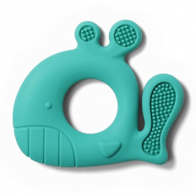 BabyOno kramtukas silikoninis, mėtinis - banginis, 935/01