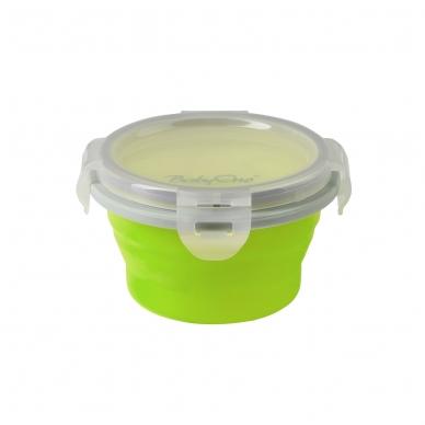 BabyOno magiškas silikoninis dubinėlis maisteliui, 220 ml, 1322 (salotinis)