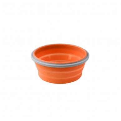 BabyOno  magiškas silikoninis dubuo maisteliui, 400ml, 1323 (oranžinis)