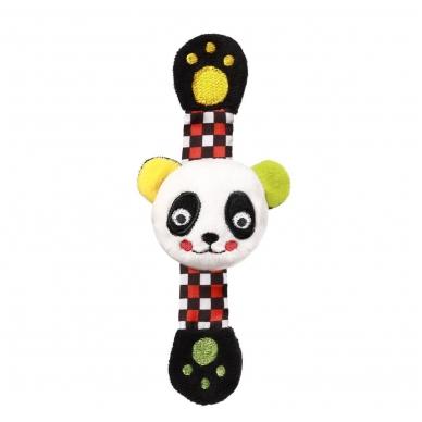 BabyOno minkštas barškutis ant rankos C-MORE, panda