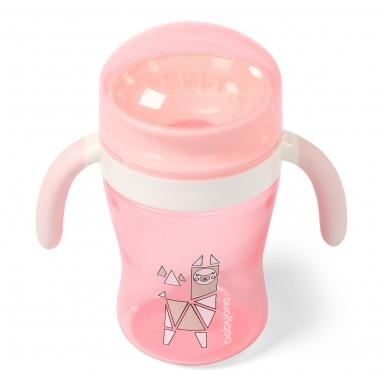 BabyOno neišsiliejantis puodelis  360°, 240 ml, 1449/01, rožinė 2