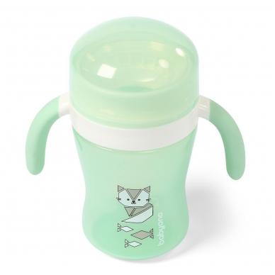 BabyOno neišsiliejantis puodelis  360°, 240 ml, 1449/01, mėtinė 2