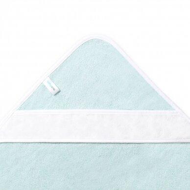 BabyOno rankšluostis su gobtuvu bambukinis 85x85 mėlynas, banginis, 343/05 2