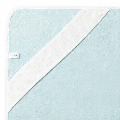 BabyOno rankšluostis su gobtuvu bambukinis 85x85 mėlynas, banginis, 343/05 3