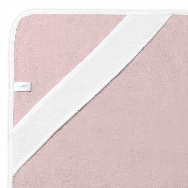 BabyOno rankšluostis su gobtuvu bambukinis 85x85 rožinis, gulbė, 343/04 3