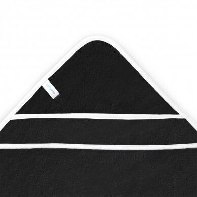 BabyOno rankšluostis su gobtuvu bambukinis 85x85 juodas, pingvinas, 343/02 2