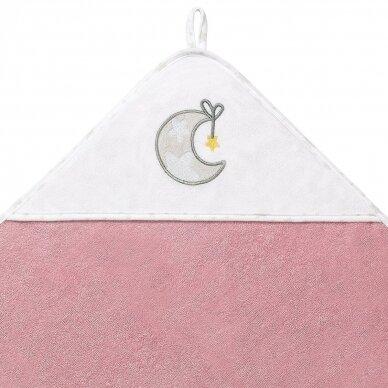 BabyOno rankšluostis su gobtuvu frotinis 100x100, rožinis TERRY, 142/10 2