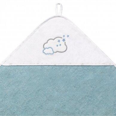 BabyOno rankšluostis su gobtuvu frotinis 100x100, mėlynas TERRY, 142/09 2