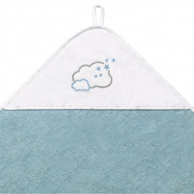 BabyOno rankšluostis su gobtuvu frotinis 76x76, mėlynas TERRY, 141/09 2