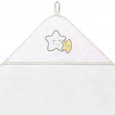 BabyOno rankšluostis su gobtuvu frotinis 100x100, baltas TERRY, 142/07 2