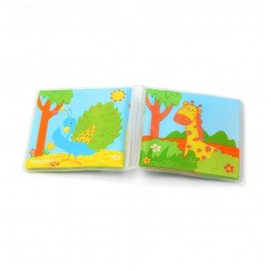 BabyOno vonios žaislas-knygutė laukiniai gyvūnai 3