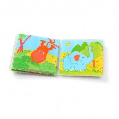 BabyOno vonios žaislas-knygutė laukiniai gyvūnai 4