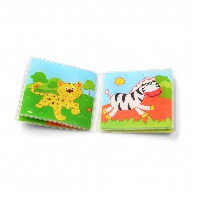 BabyOno vonios žaislas-knygutė laukiniai gyvūnai 5
