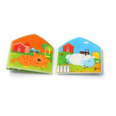 BabyOno vonios žaislas-knygutė kaimo gyvūnai 3