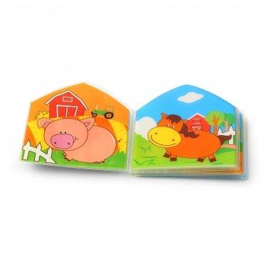 BabyOno vonios žaislas-knygutė kaimo gyvūnai 4