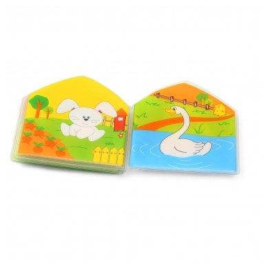 BabyOno vonios žaislas-knygutė kaimo gyvūnai 5