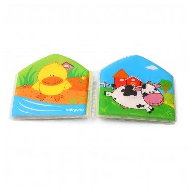 BabyOno vonios žaislas-knygutė kaimo gyvūnai 6
