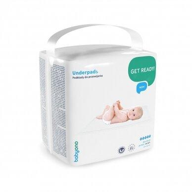 BabyOno kūdikio pervystymo paklotai, 20 vnt., 40x60, 598