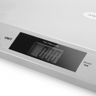 BabyOno elektroninės svarstyklės iki 20 kg, pilkos, 612/02 2