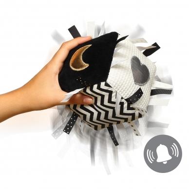 Lavinamasis žaislas, kubas, juoda  - balta, 755 4