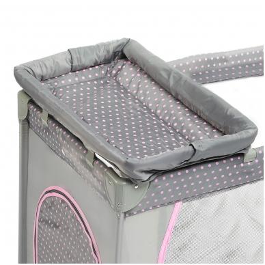 Maniežas su pilna įranga rožinis / pilkas 3
