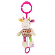 Minkštas žaislas su melodija - linksma karvutė
