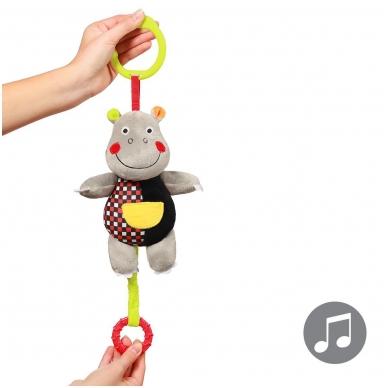 Minkštas žaisliukas su muzikėle C-MORE, hipopotamas 3