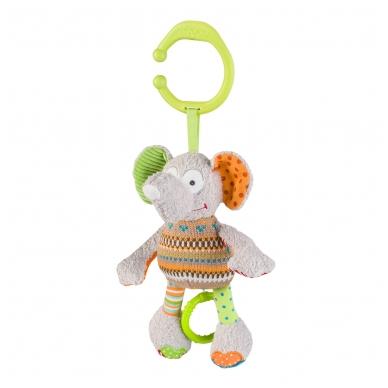 Minkštas žaislas su melodija - linksmas drambliukas