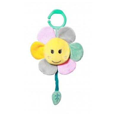 Minkštas žaislas su melodija - gėlytė