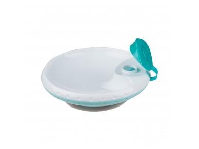 Food temperature maintaining suction bowl 2