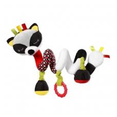 Žaisliukas vežimėliui, lovytei, autokėdutei  FELIX THE RACOON C-MORE, zebra